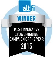 AltFi Awards: Winner Most Innovative Crowdfunding Campaign of the Year